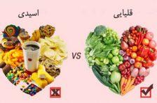 مواد غذایی قلیایی کننده رحم کدامند؟